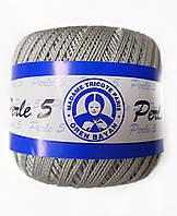 Пряжа для вязания Madame Tricote Perle 5, цвет серый