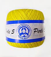 Пряжа для вязания Madame Tricote Perle 5, цвет желтый