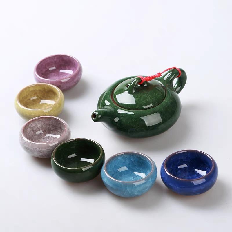 Чайний набір гланяний набір для китайської чайної церемонії Кольоровий