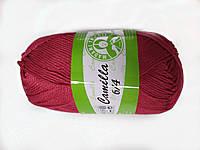 Пряжа для вязания Madame Tricote Camilla 6/4, цвет красный
