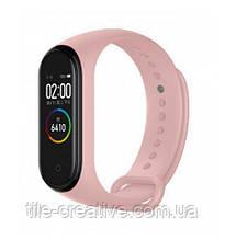 Фитнес браслет M5 Pink термометр, шагомер, измерение давления и пульса