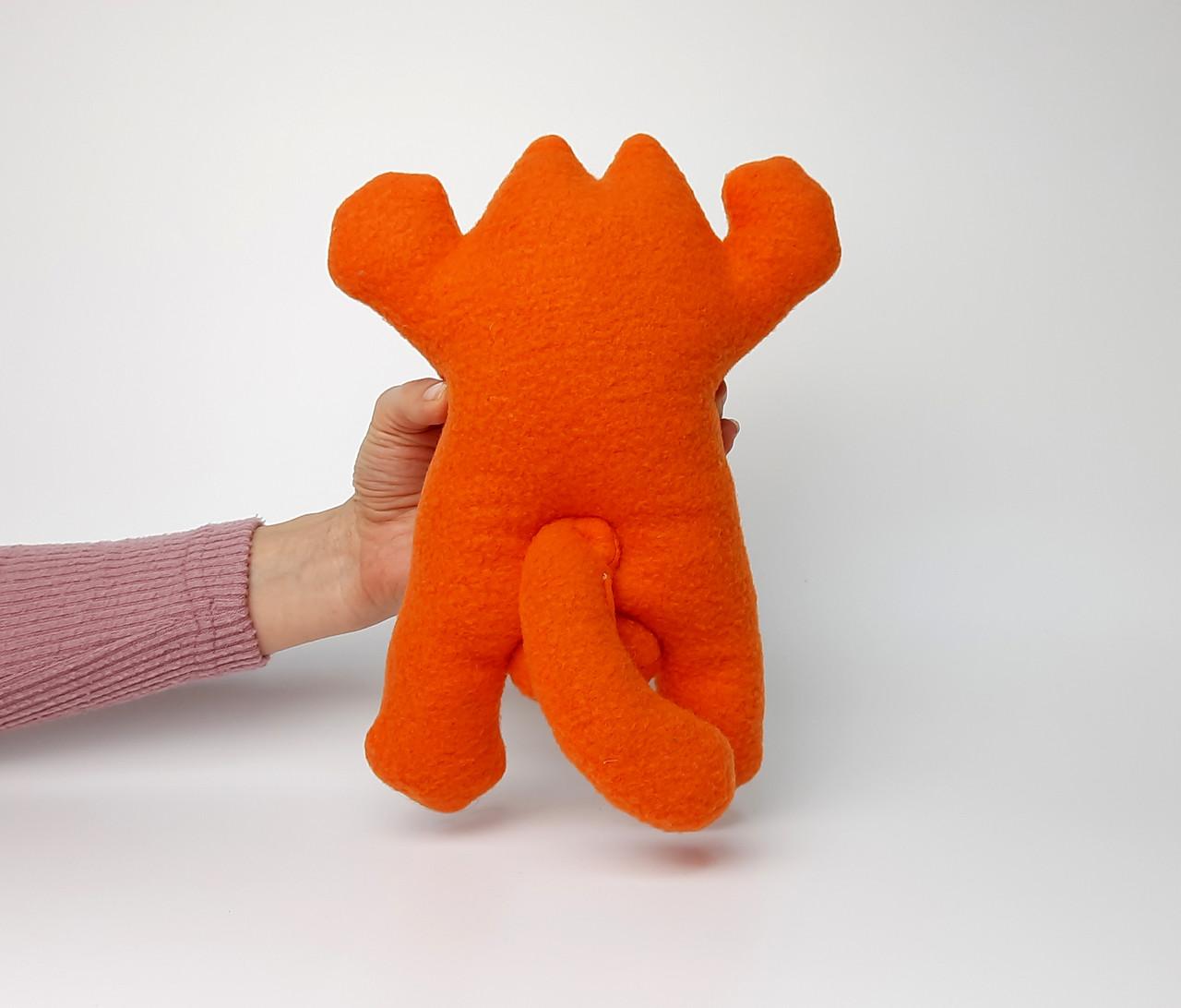 Саймон Кот рыжий на присосках - Сувенир в машину - Мягкая игрушка Кот Саймон - Подарок автомобилисту - фото 4