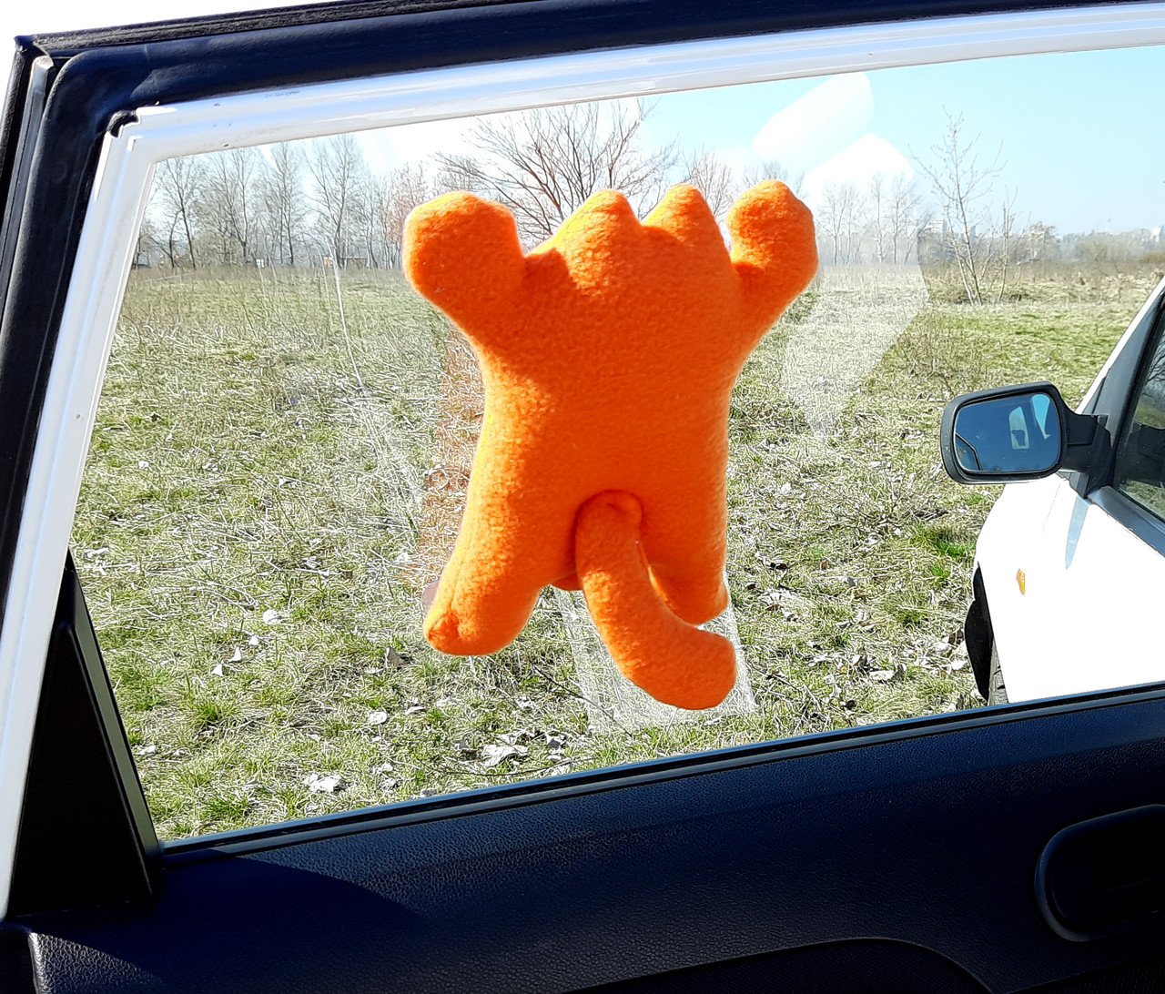 Саймон Кот рыжий на присосках - Сувенир в машину - Мягкая игрушка Кот Саймон - Подарок автомобилисту - фото 7