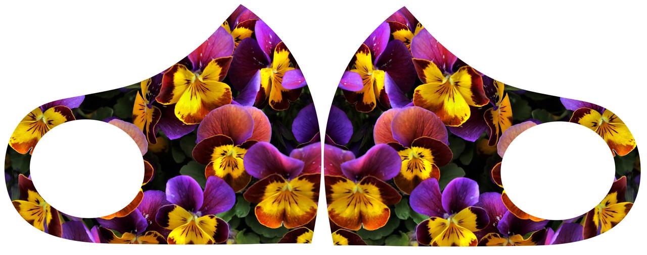 Маска Питта с цветочным принтом размер М