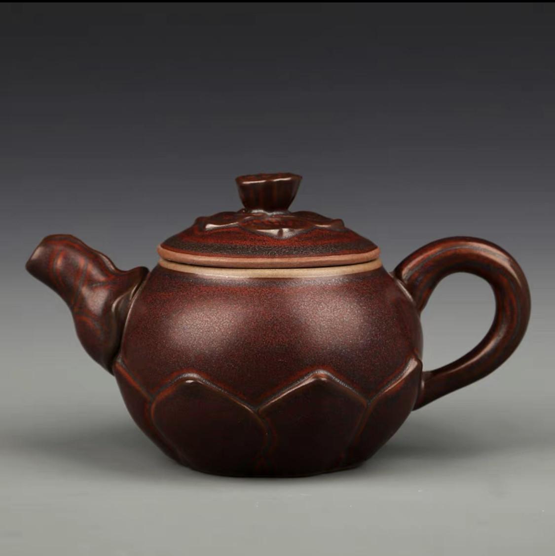 Керамічний китайський чайник для чайної церемонії Коричневий