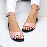 Босоніжки жіночі рожеві / пудра натуральна шкіра, фото 5