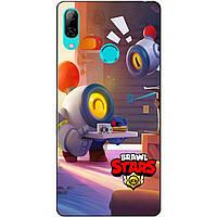 Силиконовый бампер чехол для Huawei P Smart 2019 с рисунком Бравл Старс Столкновение Нани