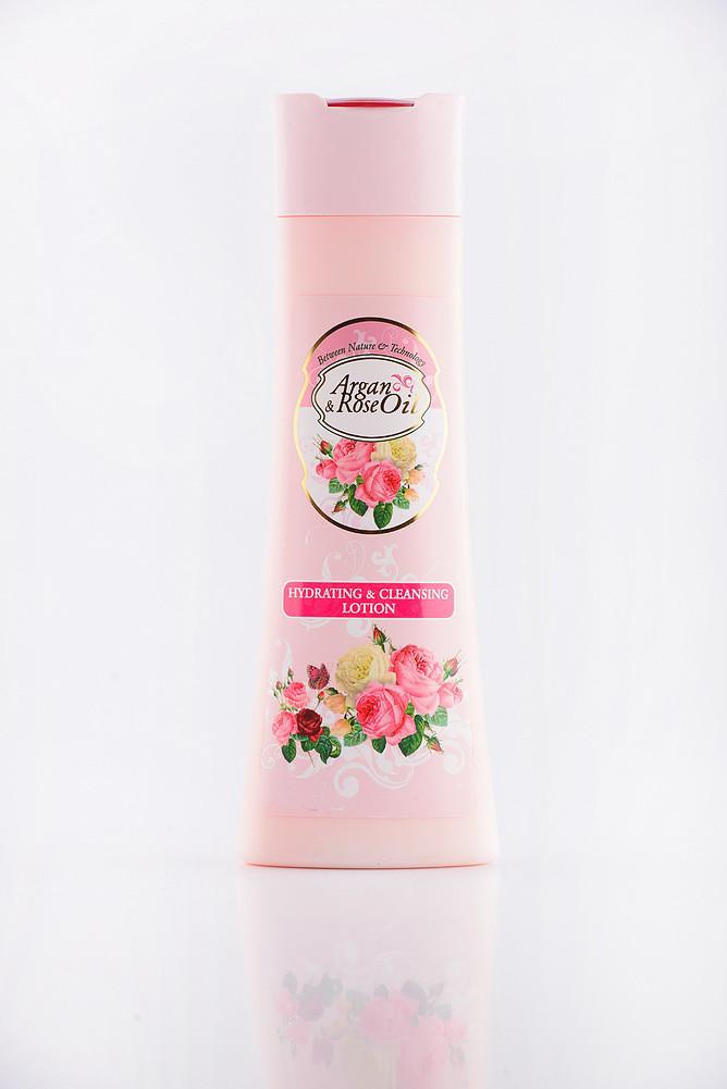 Argan & Rose Oil Гидратирующий і очищающий лосьон
