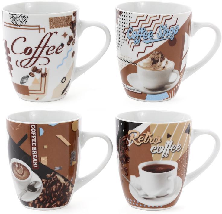 """Кружка порцеляновий """"Retro Coffee"""" 375мл"""