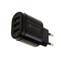 Адаптер швидкої зарядки на 3 USB порту