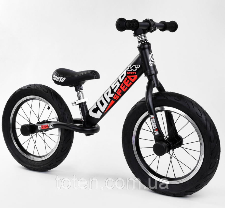 """Велобег 14"""" CORSO 79077  стальная рама, колеса надувные, алюминиевые диски. Cидение регулируется Т"""