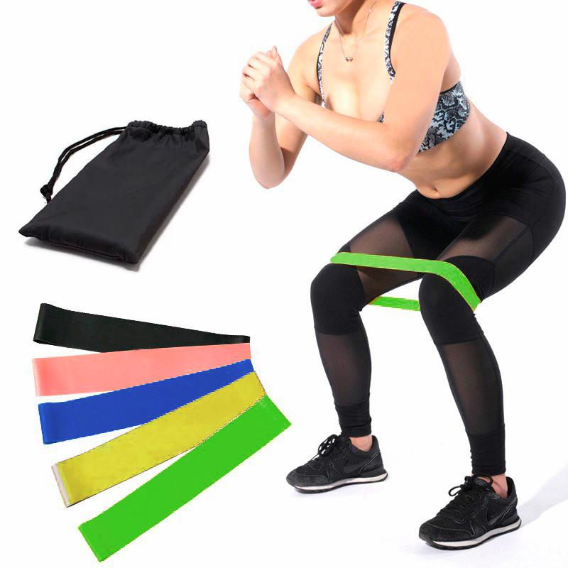 Гумки для фітнесу і спорту (стрічка еспандер) гумові петлі для ніг/рук/сідниць набір 5шт OSPORT (OF-0021)