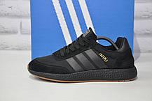 Кроссовки мужские черные в стиле Adidas iniki runner Black