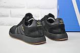 Кросівки чоловічі чорні в стилі Adidas iniki runner Black, фото 5