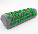 Аппликатор Кузнецова подушка (полувалик игольчатый) массажный акупунктурный OSPORT (188-79) Серо-зеленый, фото 2