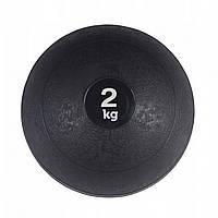 М'яч для кросфіта і фітнесу набивнийSPORTVIDA Медичний слембол 2 кг Гума Чорний(SV-HK0196)