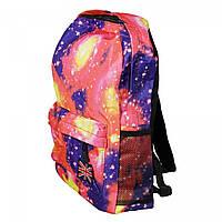 Рюкзак Космос, розовый с синим