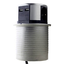 "ElectroHouse {""ru"":""Меблева розетка 3 x 16A, 2 x USB 2.4 A, метал + провід 3 x 1.5 mm2"",""ua"":""Меблева"