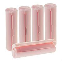 Дорожній набір мильною папери в портативної закритій мильниці, Рожевий