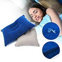 Надувна туристична подушка для кемпінгу, синя