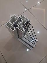 Трехстворчатое Т-образное окно Rehau 70, фото 3