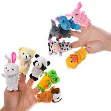 Пальчиковий театр Тварини C012, 10 м'яких іграшок
