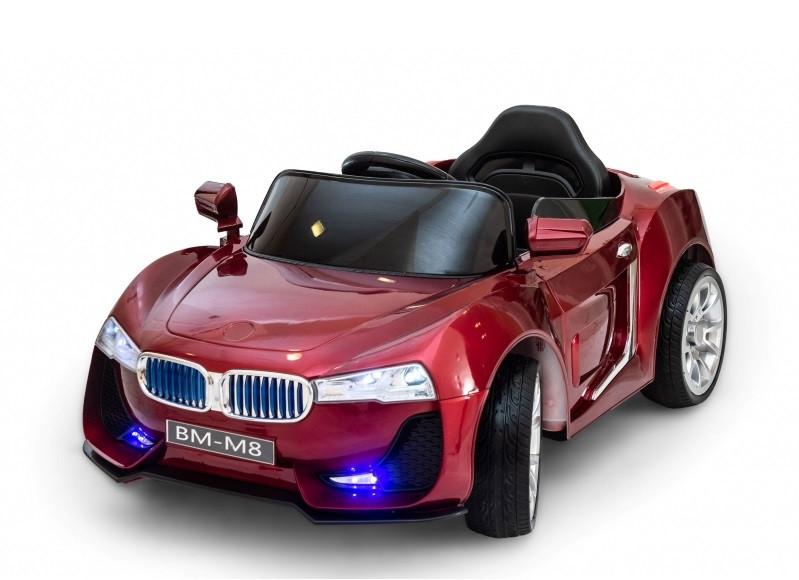 Дитячий електромобіль Cabrio BM-M8 лакований з м'якими колесами EVA і пультом управління