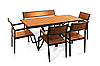 """Комплект меблів для дачі """"Брістоль"""" стіл (160*80) + 4 стільця + лавка Твк"""