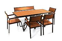 """Комплект меблів для дачі """"Брістоль"""" стіл (160*80) + 4 стільця + лавка Твк, фото 1"""