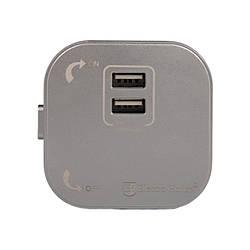"""ElectroHouse {""""ru"""":""""Розетка трековая двойная USB pandora 2.4А"""",""""ua"""":""""Розетка трекова подвійна USB pandora"""