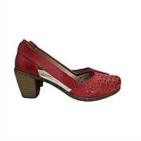 Туфлі Rieker 36(р) Червоний Шкіра 0-1-1-40967-33