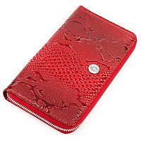 Кошелек-клатч женский KARYA 17070 кожаный Красный