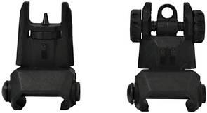 Оригинал Открытый прицел American Tactical ATI Flip Up Front and Rear Backup Sights Polymer ATISIGHTSETP