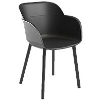 Крісло Tilia Shell-P чорне