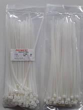 Кабельна стяжка 4x200mm біла