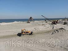 Галициновский речной мытый песок (среднезернистый)
