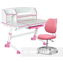 Универсальный комплект для девочки👸  парта FunDesk Amare II Pink + эргономичное кресло FunDesk Pratico Pink, фото 3