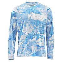 Блуза Simms SolarFlex Crewneck Prints Cloud Camo Blue S Є розміри