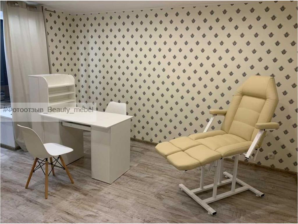 Профессиональный маникюрный стол с бактерицидной Уф лампой и потайной полочкой
