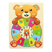 """Дерев'яна іграшка """"Годинник Мішутка"""""""