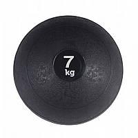 М'яч для кросфіта і фітнесу набивнийSPORTVIDA Медичний слембол 7кг Гума Чорний(SV-HK0198)