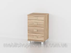 Прикроватная тумба (на 4 ящика) Дуб Сонома
