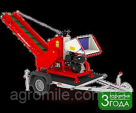 Измельчитель веток Arpal АМ-120БД-К с транспортером и бензиновым мотором, 18 л.с. (диаметр веток 120 мм)