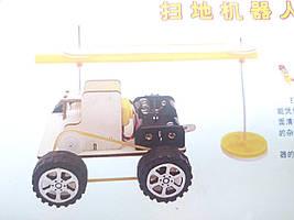 Машинка на шківах , конструктор дитячий - саморобка