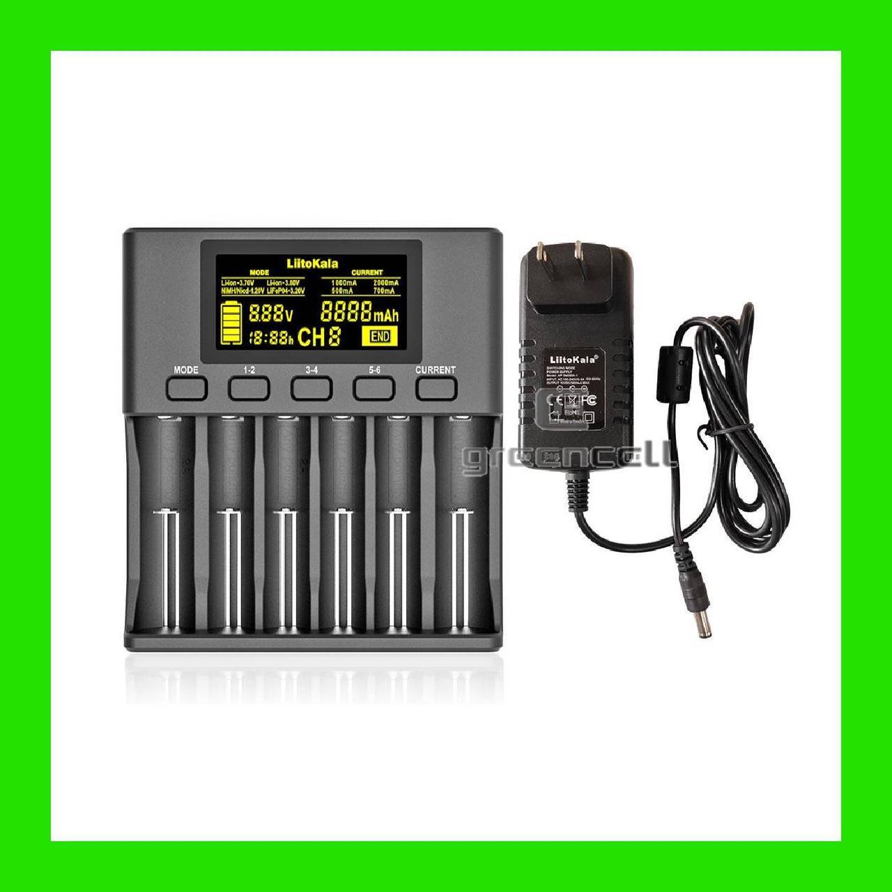 Зарядний пристрій для акумуляторів LiitoKala Lii-S6 універсальне 6-ти канальний