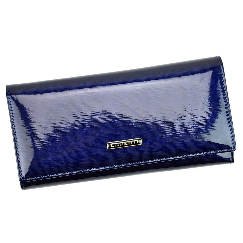 Женский лаковый кошелек синий LORENTI 72031-SH Blue