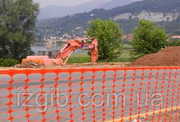Сетка оранжевая для аварийных ограждений Мастер 80*40мм