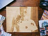Подарок любимой жене Оригинальный подарок на свадьбу (портрет выжженный на дереве), фото 3