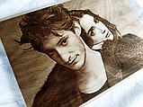 Подарок любимой жене Оригинальный подарок на свадьбу (портрет выжженный на дереве), фото 4
