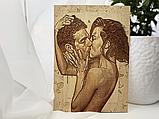 Подарок любимой жене Оригинальный подарок на свадьбу (портрет выжженный на дереве), фото 5